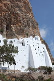 Monastério na ilha de Amorgos, Grécia Foto de Stock