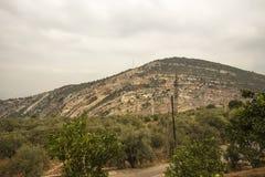 Monastério na montanha, EL Koura de Hamatoura de Kousba, Líbano imagens de stock royalty free