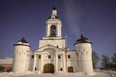 Monastério na região de Yaroslavl, Rússia do esmagamento de Avraamiev Fotos de Stock