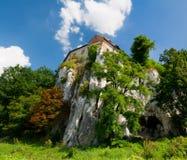 Monastério na rocha da pedra calcária Foto de Stock Royalty Free