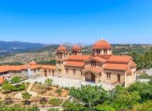 Monastério ortodoxo cristão em Malevi, Peloponnese, Grécia foto de stock royalty free