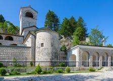 Monastério ortodoxo de Cetinje da natividade da Virgem Maria abençoada, Montenegro fotos de stock