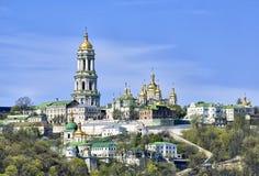 Monastério ortodoxo de Kiev Pechersk Lavra imagem de stock