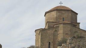 Monastério ortodoxo Georgian Jvari perto de Mtskheta, Geórgia vídeos de arquivo
