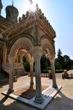 Monastério ortodoxo romeno fotos de stock