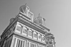 Monastério ortodoxo tradicional velho em Romania fotografia de stock