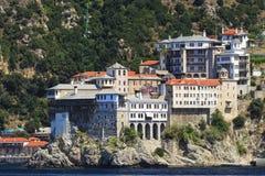 Monastério Osiou Grigoriou & x28; St Gregory & x29; em Monte Athos Foto de Stock