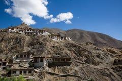 Monastério perto da cidade de Leh Fotos de Stock