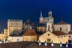 Monastério real de Santa Maria de Guadalupe, província de Caceres, Extremadura, Espanha imagem de stock