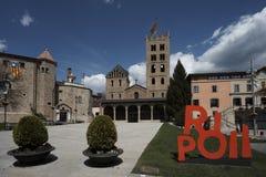 Monastério Santa Maria Ripoll fotografia de stock