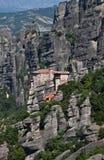 Monastério santamente de Rousanou, Meteora, Grécia Fotos de Stock Royalty Free