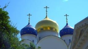 Monastério santamente Odessa de Dormition Abóbadas da igreja contra o céu Imagem de Stock