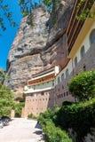 Monastério Spilio mega, Grécia foto de stock