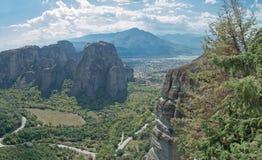 Monastério Varlaam em Meteora imagens de stock royalty free