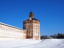 Monastério velho antigo de Kirillo-Belozersky do russo fotografia de stock royalty free