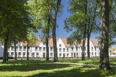 Beguinage em Bruges Foto de Stock Royalty Free