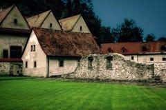 Monastério vermelho Imagem de Stock Royalty Free