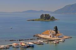Monastério Vlacherna Corfu fotos de stock royalty free