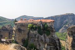 Monastérios de Meteora Imagem de Stock