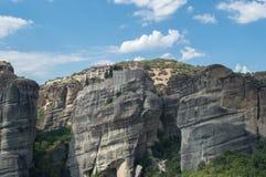 Monastérios em Meteora fotografia de stock royalty free