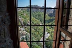 Monastérios em Meteora imagem de stock