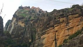 Monastérios em Meteora em Grécia foto de stock royalty free