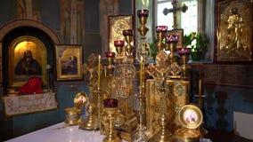 Monast?re de Saharna dans 4K Moldau banque de vidéos
