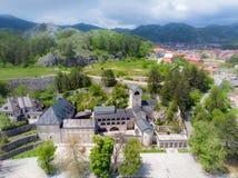Monast?rio ortodoxo da natividade da Virgem Maria aben?oada em Cetinje, Montenegro foto de stock royalty free