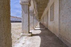 Monastary cloisters of Nossa Senhora do Cabo Church, Portugal Stock Photo