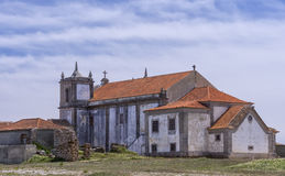 Monastary cloisters of Nossa Senhora do Cabo Church, Portugal Royalty Free Stock Photos