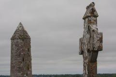 Monastary Clonmacnoise en Irlanda foto de archivo libre de regalías