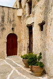 Monastary doorway Royalty Free Stock Images