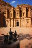 Monastary en el Petra Imágenes de archivo libres de regalías