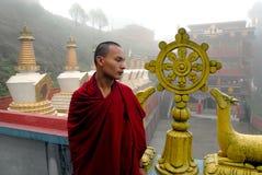 monastary monk arkivfoton