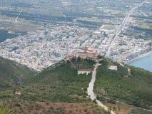 Monaster święty Patapios Loutraki Grecja obraz royalty free