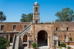 Monaster Agia Triada w Crete, Grecja Fotografia Royalty Free