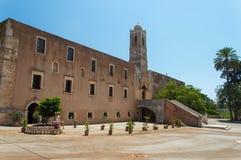 Monaster Agia Triada w Crete, Grecja Obraz Stock