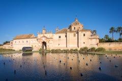 Monaster Andaluzyjski dzisiejszej ustawy centrum w Seville miejsce Cartuja, teraz fotografia royalty free
