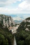 Monaster Montserrat od above Obraz Royalty Free