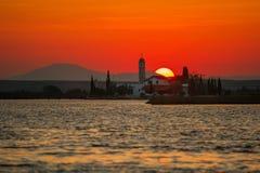Monaster na wschodzie słońca Zdjęcia Stock
