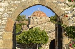 Monaster przy Laerma, Rhodes, Grecja Obraz Stock
