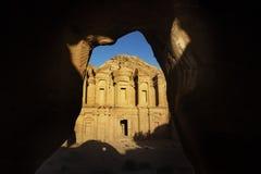 Monaster przy Petra Jordanowski punkt zwrotny zdjęcia royalty free