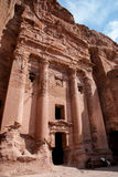 Monaster reklama, antyczny Nabataean miasta Petra, Jordania Antyczna świątynia w Petra zdjęcia stock