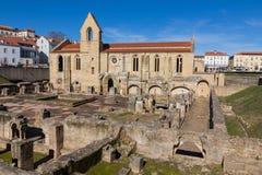 Monaster Santa Clara Velha w Coimbra, Portugalia Zdjęcia Stock