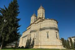 Monaster Trzy Hierarchs Trei Ierarhi monaster - punktu zwrotnego przyciąganie w Iasi, Rumunia obrazy stock