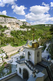Monaster w górach obraz stock