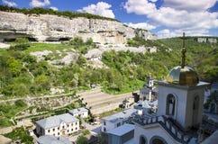 Monaster w górach zdjęcie royalty free