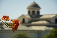 Monaster w Greckiej wyspie, Thasos Obraz Royalty Free