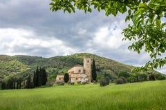 Monaster w Tuscany zdjęcia stock