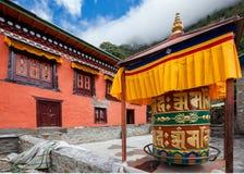 Monaster w wysokich górach w Khumbu regionie Obraz Royalty Free